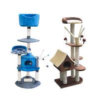 Домики-когтеточки и игровые площадки для кошек